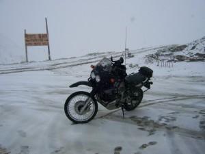 Schnee kurz vor dem Gipfel
