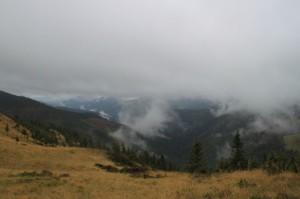 Auf 1600m in den Wolken